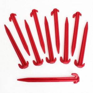 Red / Grey Plastic Pegs x 10