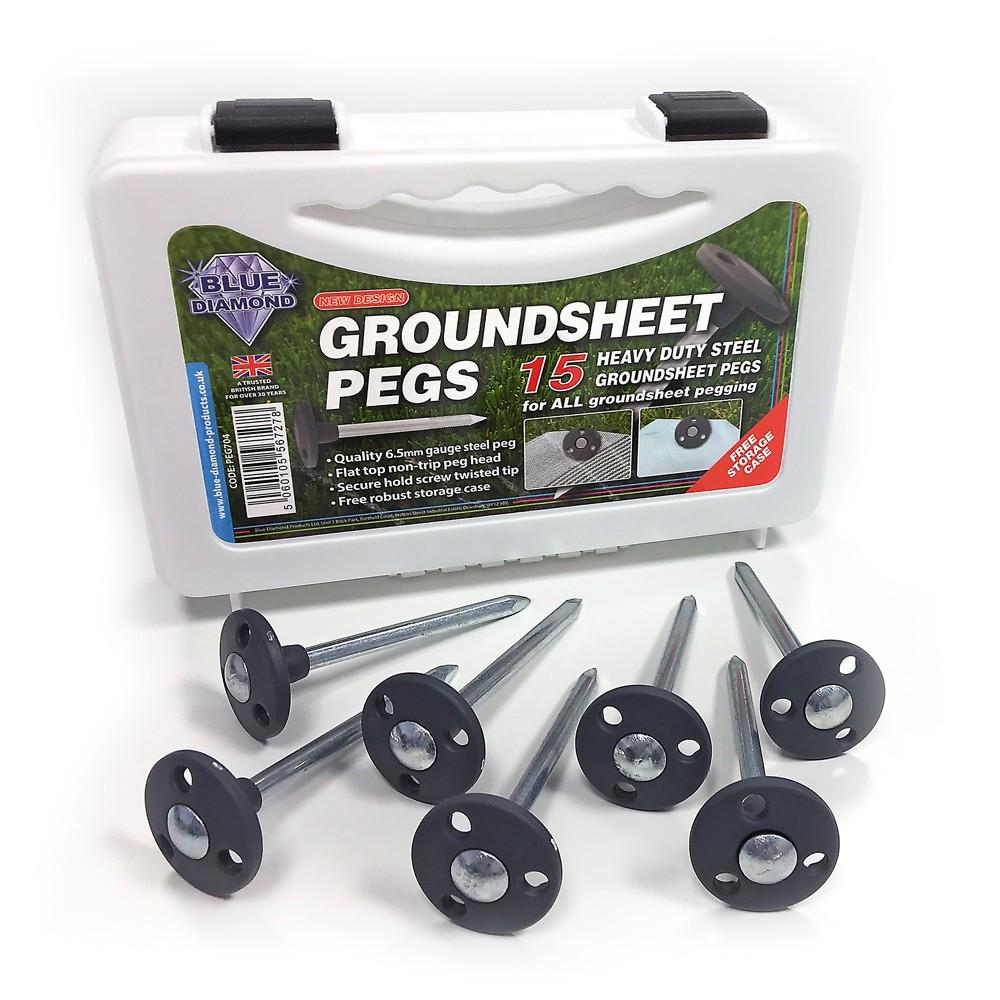 Metal Groundsheet Pegs x 15