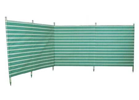 Traditional 5 Pole Green Stripe Windbreak