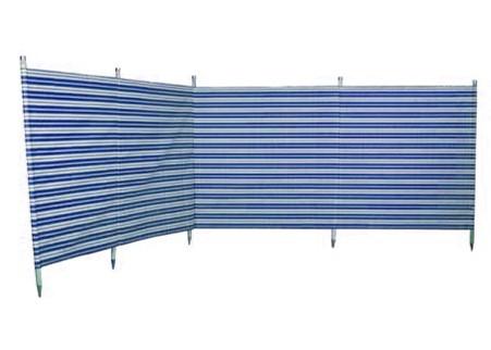 Traditional 5 Pole Navy Stripe Windbreak