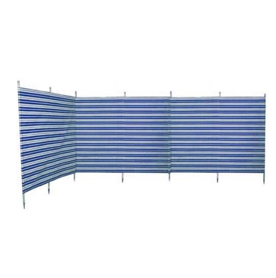 7 Pole Navy Stripe Traditional-Style Windbreak