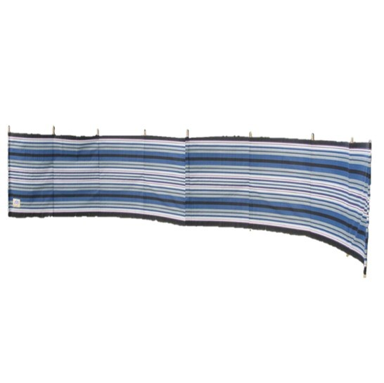 9 -Pole Navy / Burgundy 'Striped' Contemporary Windbreak