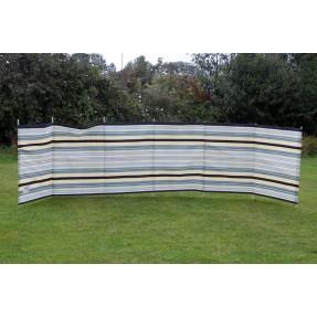 7 Pole Sand/Grey 'Striped' Contemporary Windbreak
