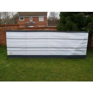 5 Pole Grey Stripe Traditional Windbreak