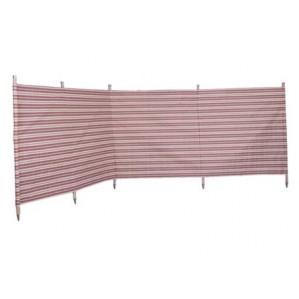 Traditional 5 Pole Burgundy Stripe Windbreak