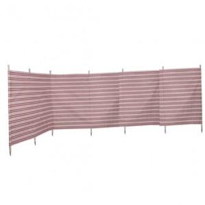 7 Pole Burgundy Stripe Traditional-Style Windbreak