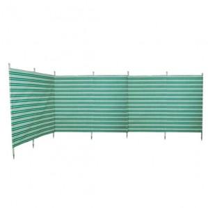 7 Pole Green Stripe Traditional-Style Windbreak