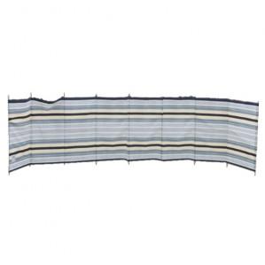 9 Pole Sand / Grey 'Striped' Contemporary Windbreak